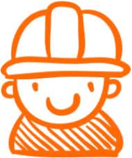 Kontakt Symbol orange