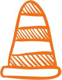 Leistung Symbol orange